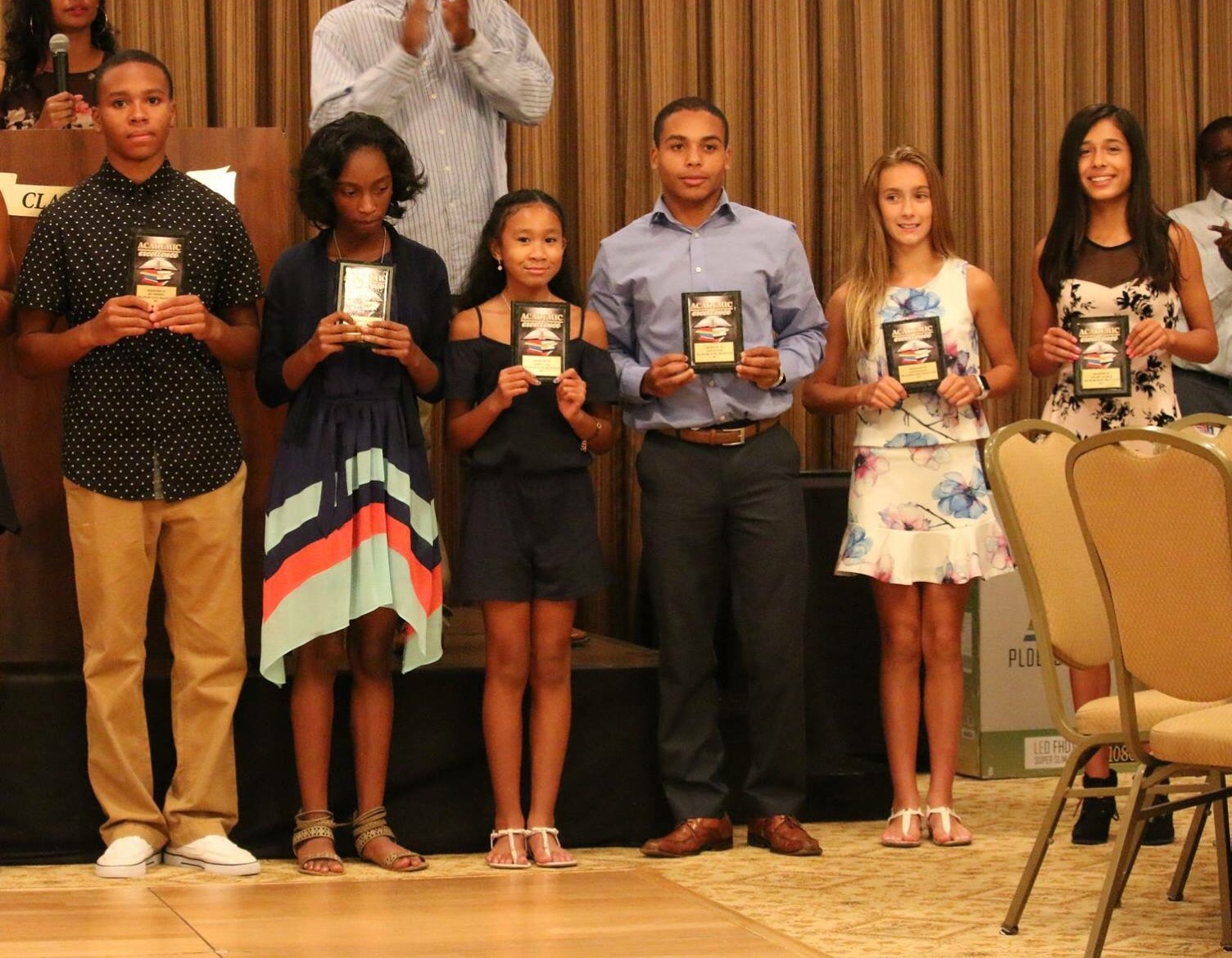 Ric Johnson , Kailah Crews, Yasmina Gall, Zion Glover , Julianna Balon , Judy McLaughlin - Athletes boasting a 4.0 grade point average and higher