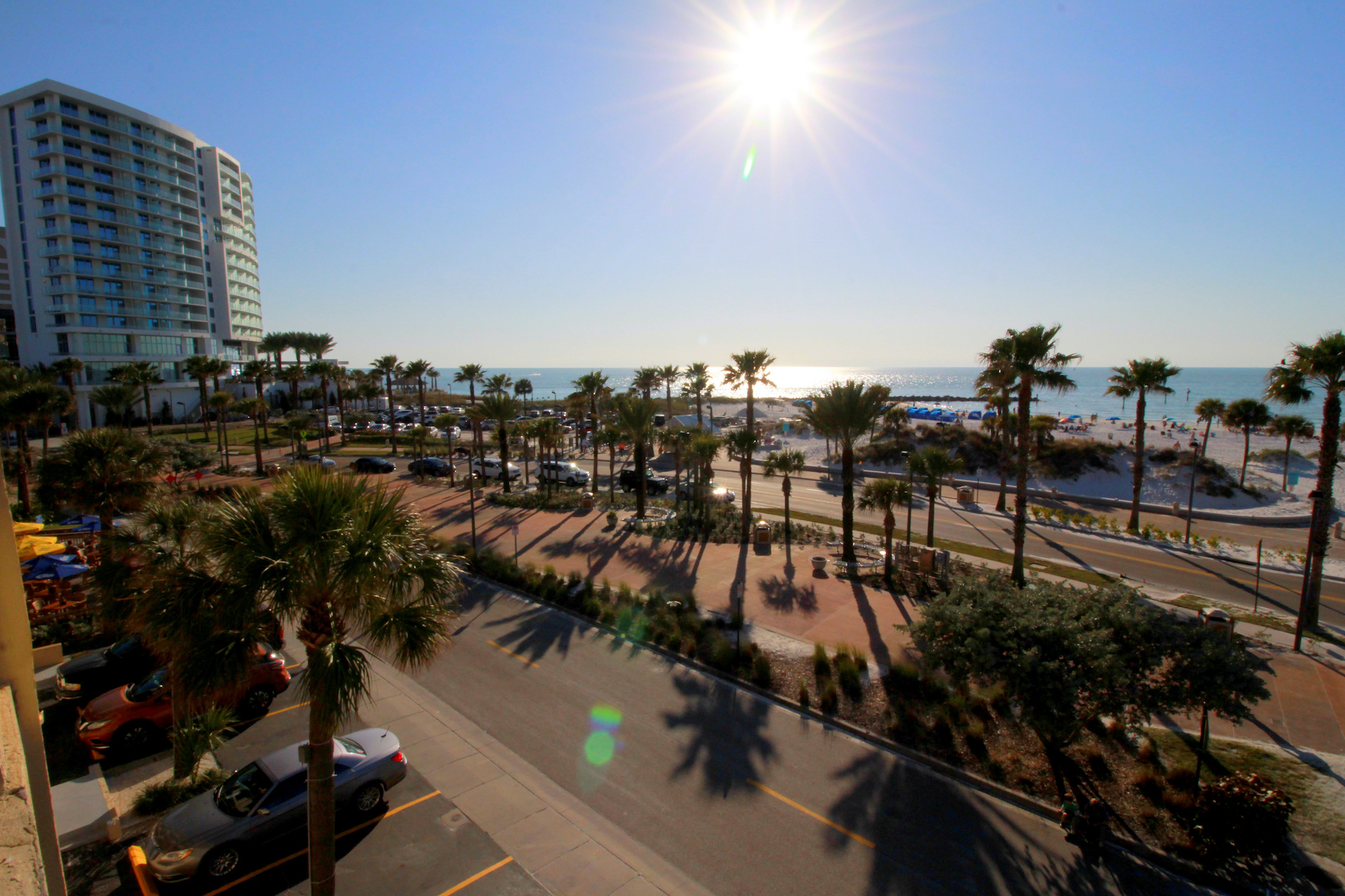 Clearwater beach as viewed from Seaside Inn and Suites balcony.jpg