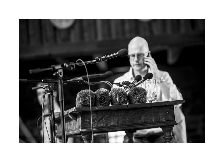 Albert Hosp wärmt auf für die Ö1 Klassik Treffpunkt live Sendung, 06.07.19