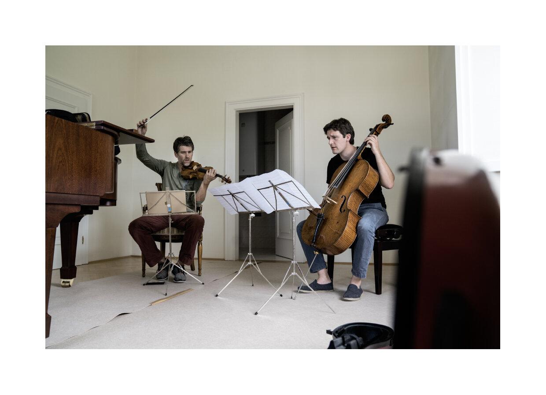 Nicolas Dautricourt & Maximian Hornung bei der Probe