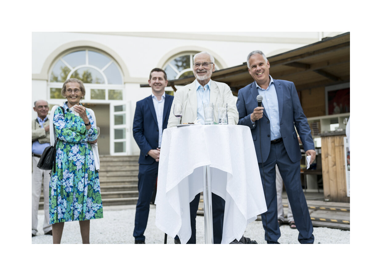 Gräfin Margit Schönborn, Bürgermeister Christian Vlasich, Obmann Dr. Erhard Busek, Geschäftsführer Géza Rhomberg