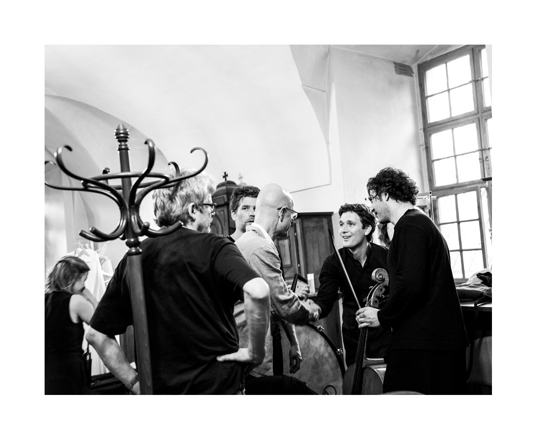 Peter Laenger, Nicolas Dautricourt, Albert Hosp, Maximilian Hornung, Nicolas Altstaedt backstage