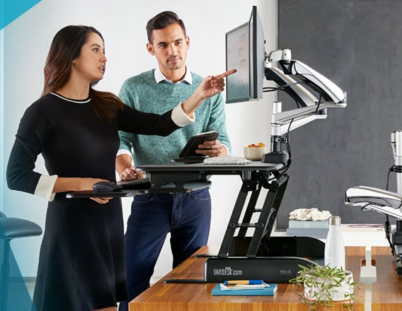 Talkin' about one of these bad boys right here. Image source: varidesk.com