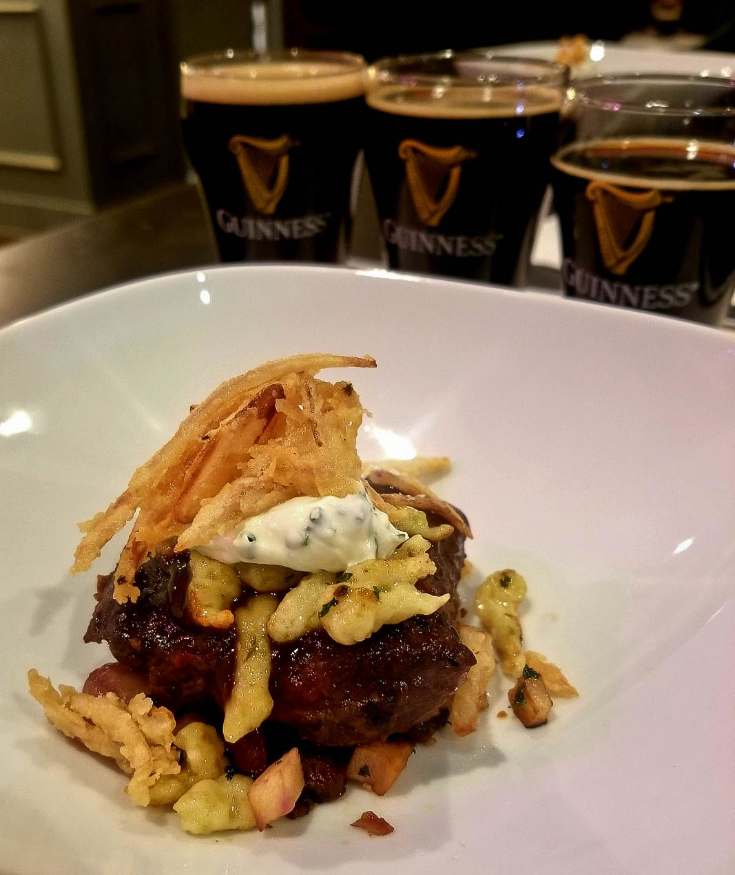 Not your typical stew. This Guinness Short Rib Stew is simmered in Guinness stout for a tender and savory texture and taste.
