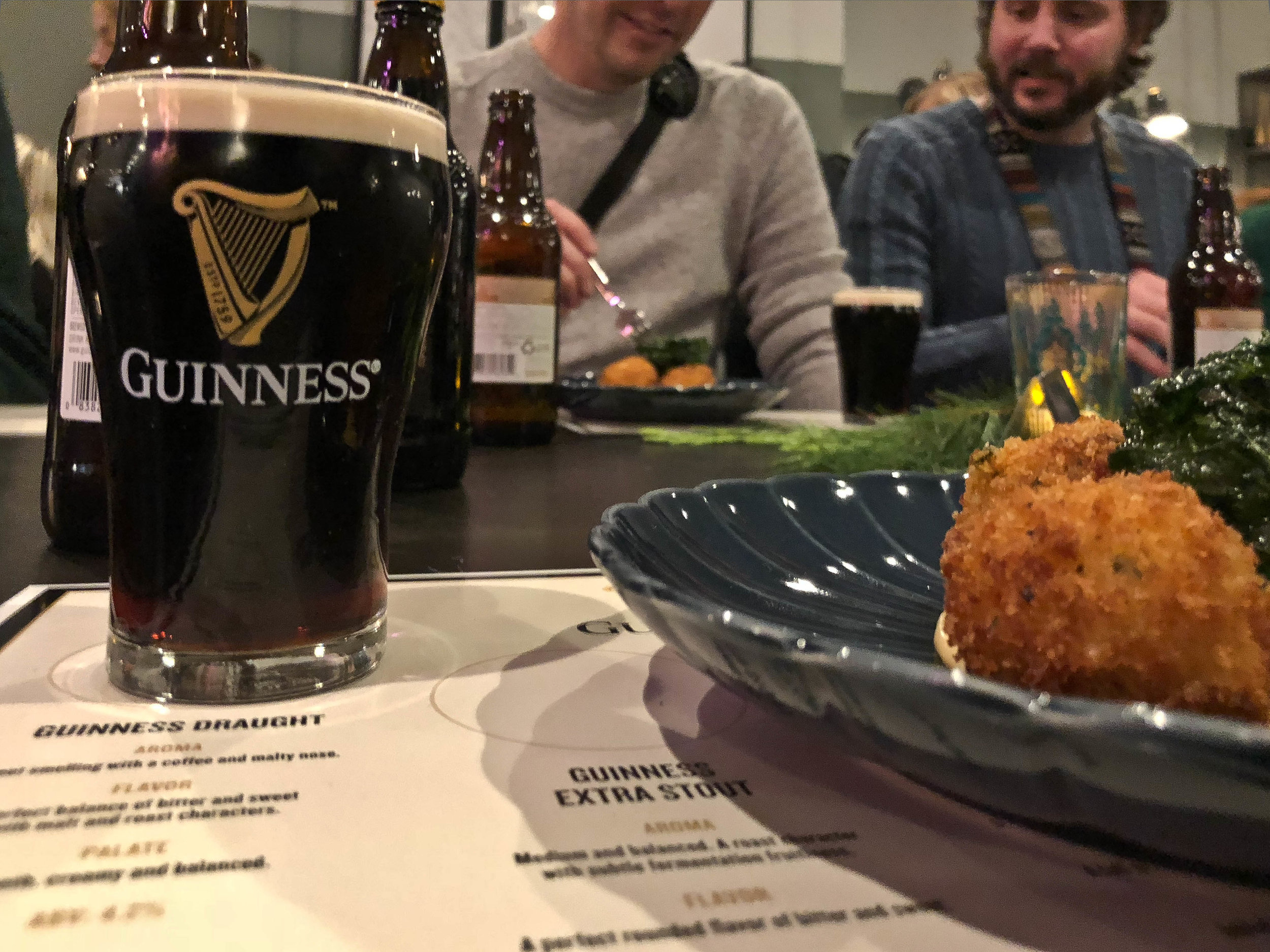 This Guinness Draught was paired with the Irish Mashed Potato Croquettes and served with a beer cheese dipping sauce.