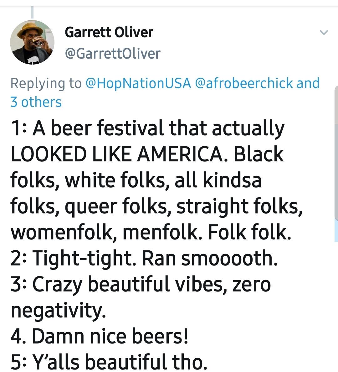 Garrett Oliver said it best… No other words needed