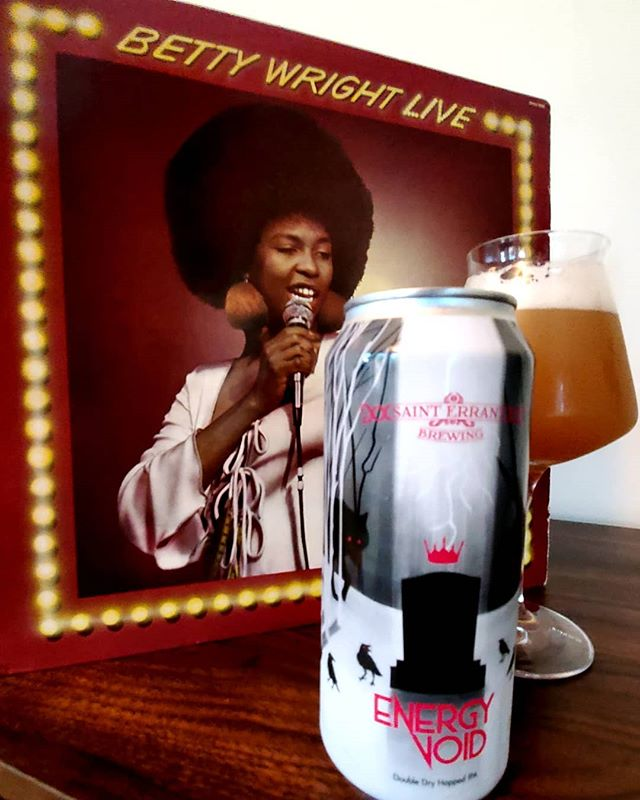 When it's been a long ass week. Finally get to chill with Betty Wright on vinyl and Energy Void from @sainterrantbrewing. . .  #afrobeerchick #beerstagram #beersofinstagram #craftbeer #craftbeergirl #beergirl #beergirlsofinstagram #drinklocal #beeradvocate  #untappd #beershare  #ladiesthatlovecraft #beerme  #cheers #beergeek #beergeeks #craftbeernotcrap beer #blogger #drinkcraft #drinkcraftbeer #browngirlswhoblog  #blackpeoplelovebeer #brownpeoplelovebeer #beingblackincraft #beerandvinyl #sainterrant