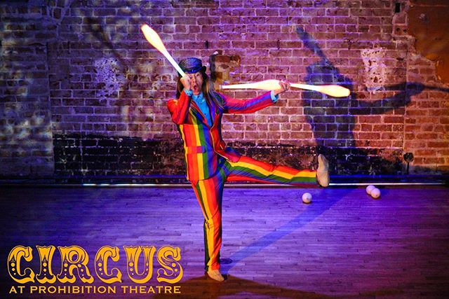 🎪THIS SUNDAY🤹‍♀️ Circus returns to @prohibitiontheatre at 6pm! Get your tickets while they last through the link in our bio & we'll see you at the show🎫 #CircusHTX