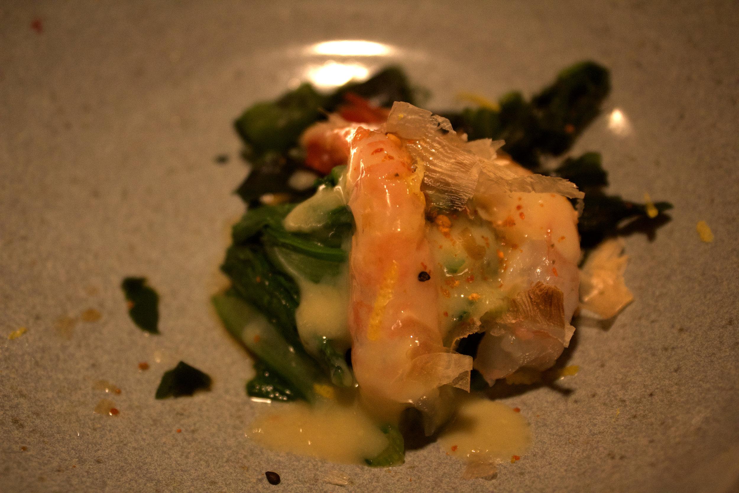 Sweet shrimp appetiser.