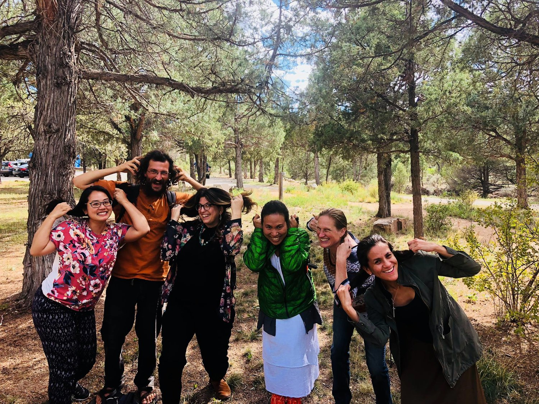 Taos Tree Gnomes, aka. Retreat Participants Having Fun
