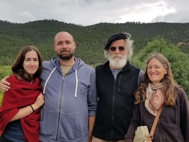 Z'ev and Sabine with Nate and his partner, Taos 2018