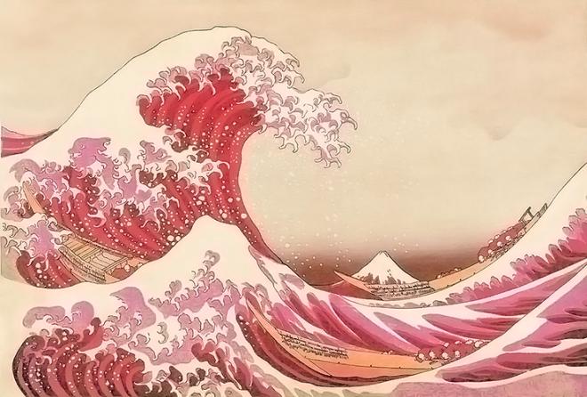 The Great Wave off Kanagawa, Hokusai