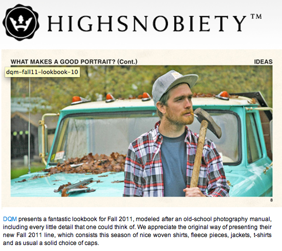 High Snobiety | DQM Fall 2011 Review