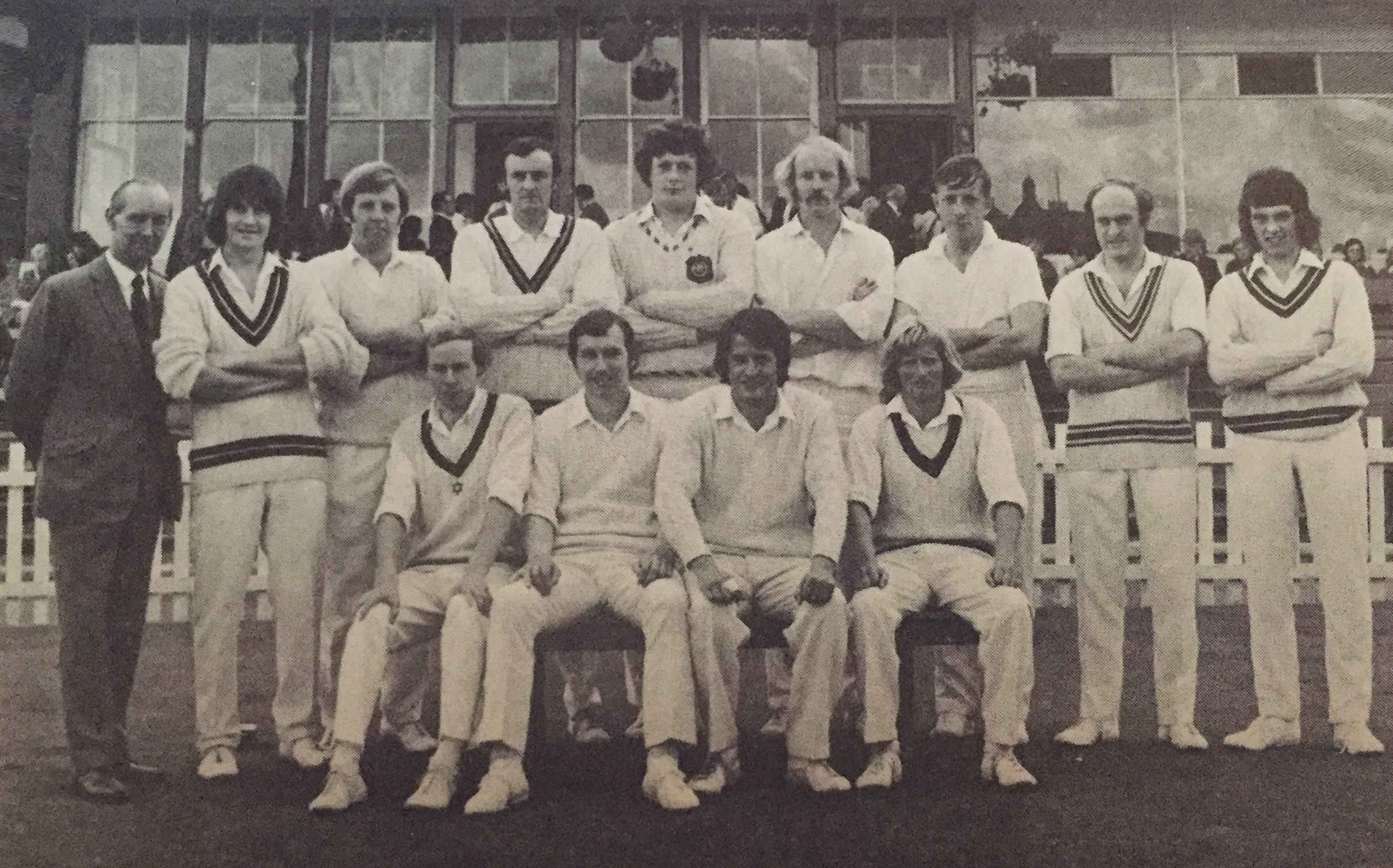 1974 Rothman Quaich winners, including Scotland players Dave Loudon and Henry Fairweather.