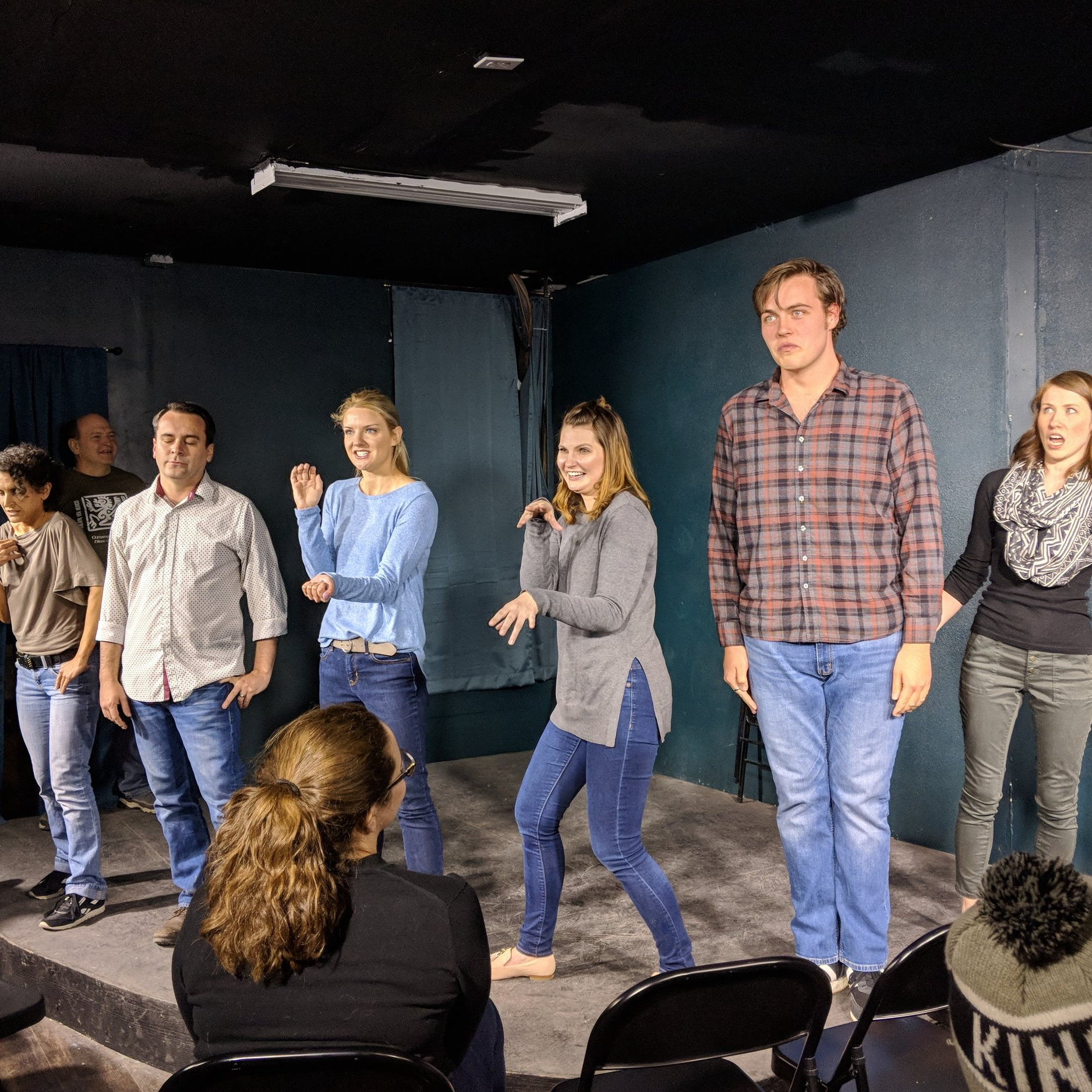 Tantrum   coached by Chris Teregis   You'll throw one yourself at how hilarious this crew is. Tantrum performs a Harold each set, boasting fabulous group games and support like you've never seen. Don't miss Tantrum Wednesdays at SYP Awesome Improv Show!
