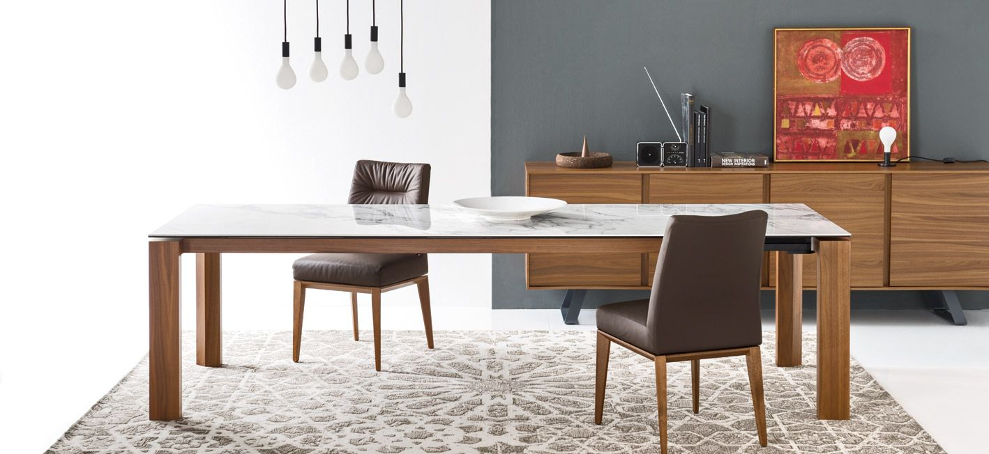 Omnia Glass Ceramic 70 Extendable Dining Table M Collection Home