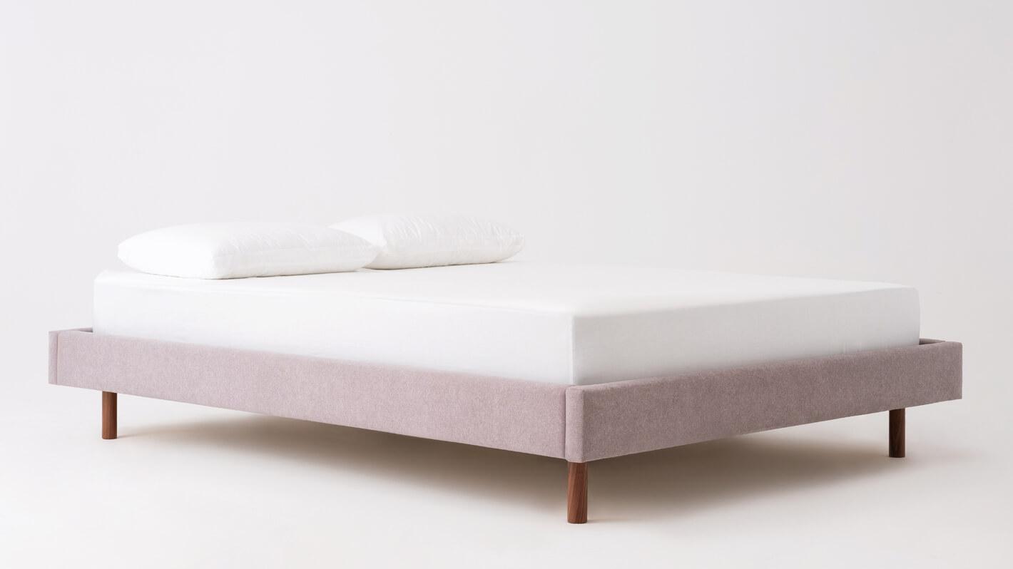 Bento Bed - Frame - Fabric - Wood Leg
