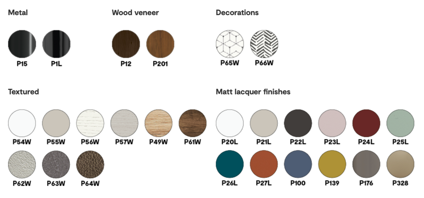 Manhattan Finish Options - Calligaris - M Collection.png