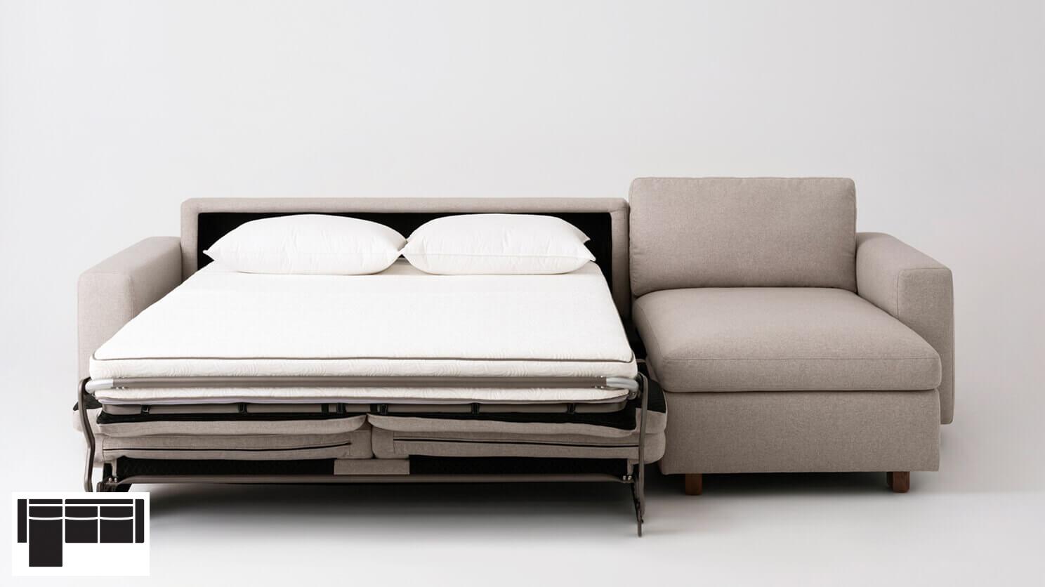 Reva Sectional Storage Sofa Bed Laf