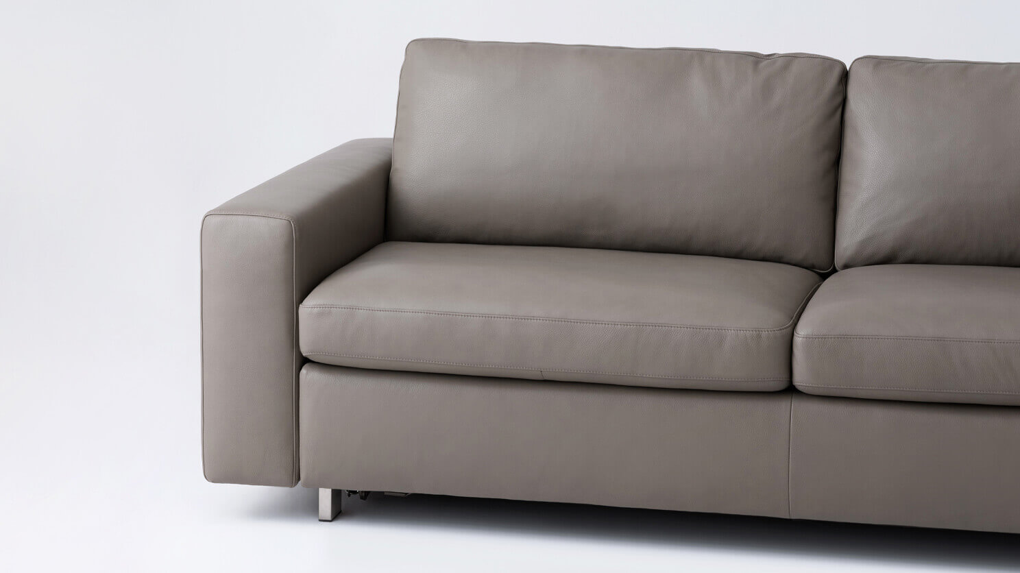 Reeva Sofa Bed Queen Size Mattress Leather M Collection Home