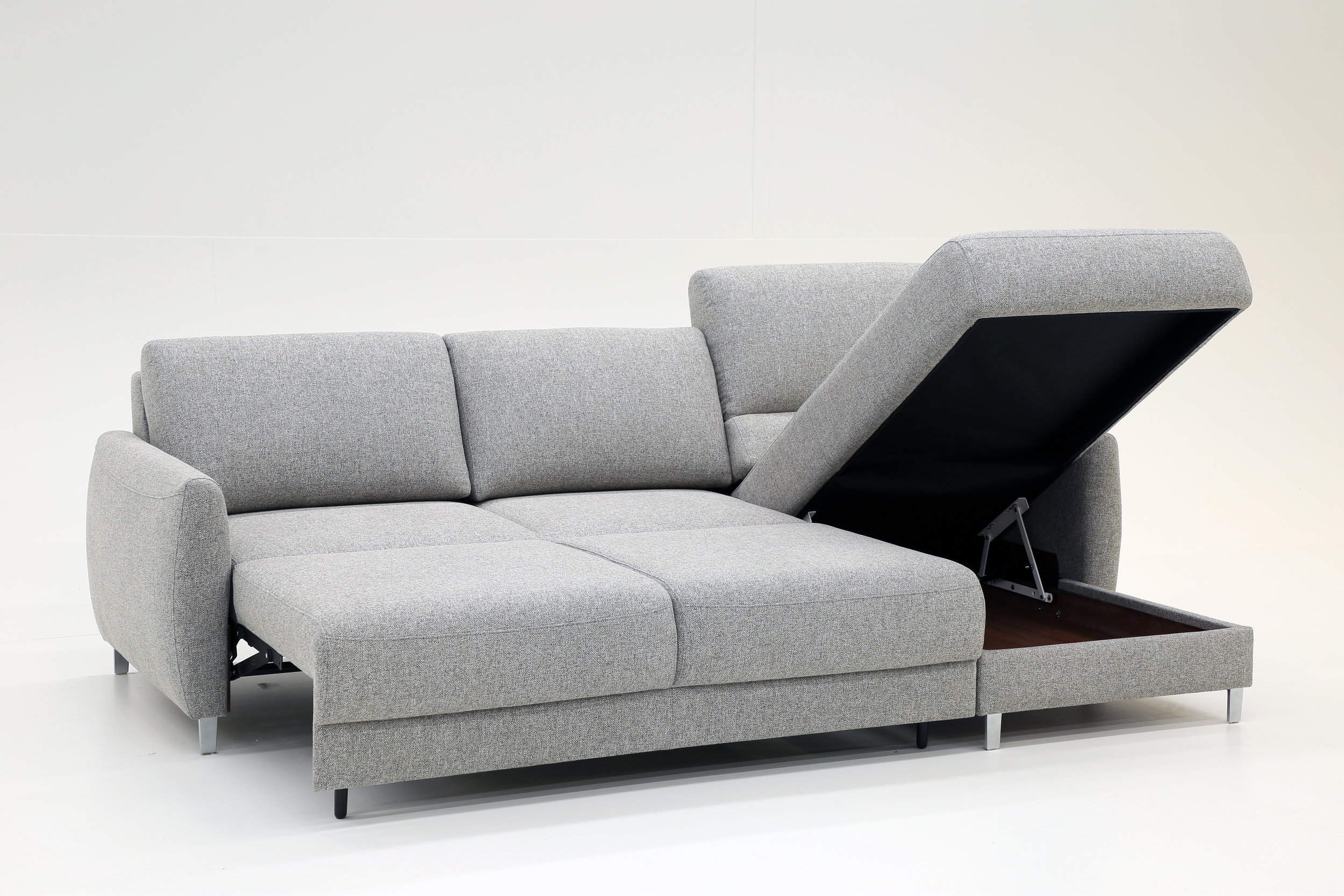 - Delta Sectional Storage Sofa Bed — M Collection Home