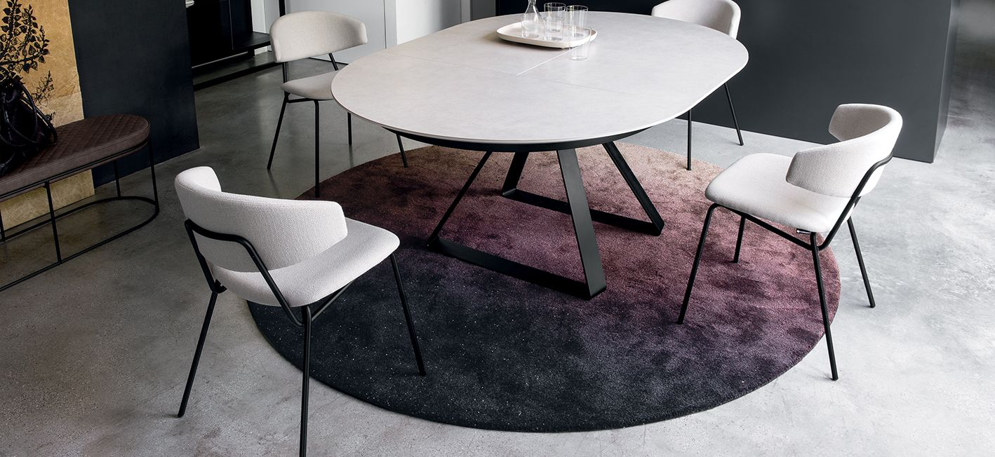 Atlante Extendable Round Dining Table M Collection Home