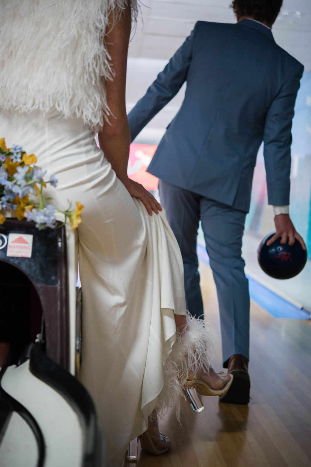 Disco Glam - Real couple, Amanda & Tim, got dolled up at Surf Bowl for a Disco inspired styled photoshoot. Design, Planning and Florals by: Brittany Corrales of Mariposa Events Co.