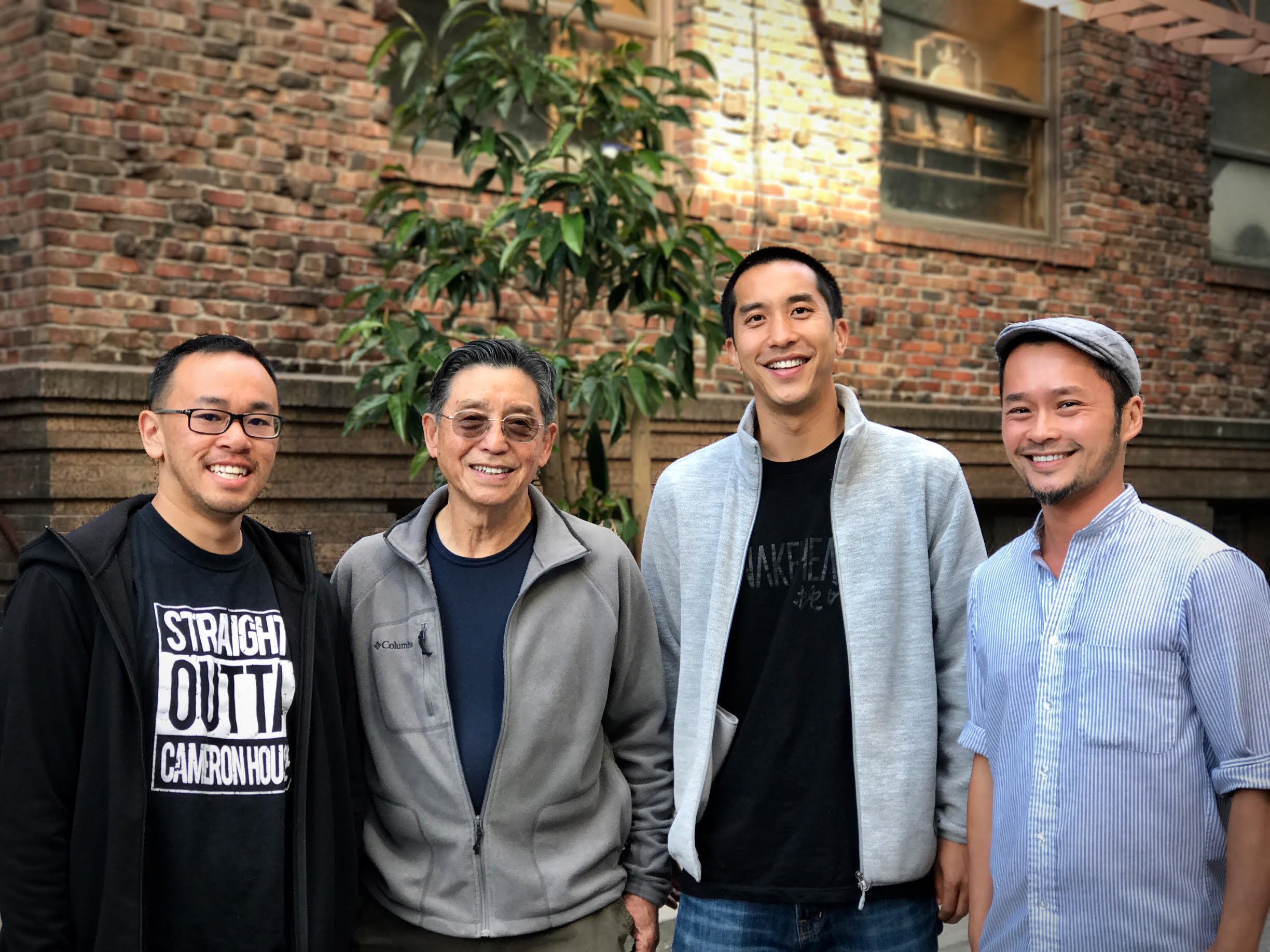 Our team: Anson Ho (Cinematographer, Co-Editor), Harry Chuck (Producer, Director, Archival Cinematographer), Josh Chuck (Co-Producer, Co-Editor), James Chan (Producer)