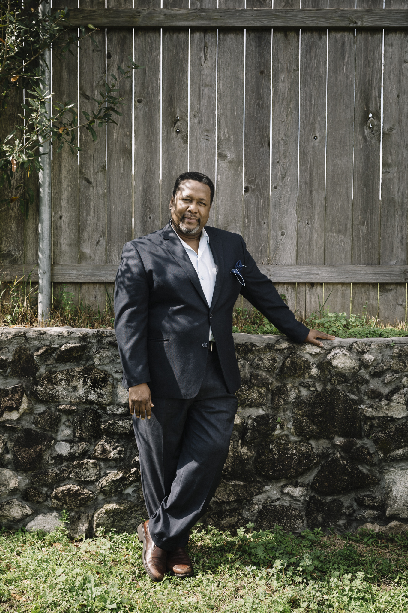 New Orleans, LA - Feb. 7, 2019 - Actor Wendell Pierce photographed at his home in the Pontchartain Park neighborhood of New Orleans.