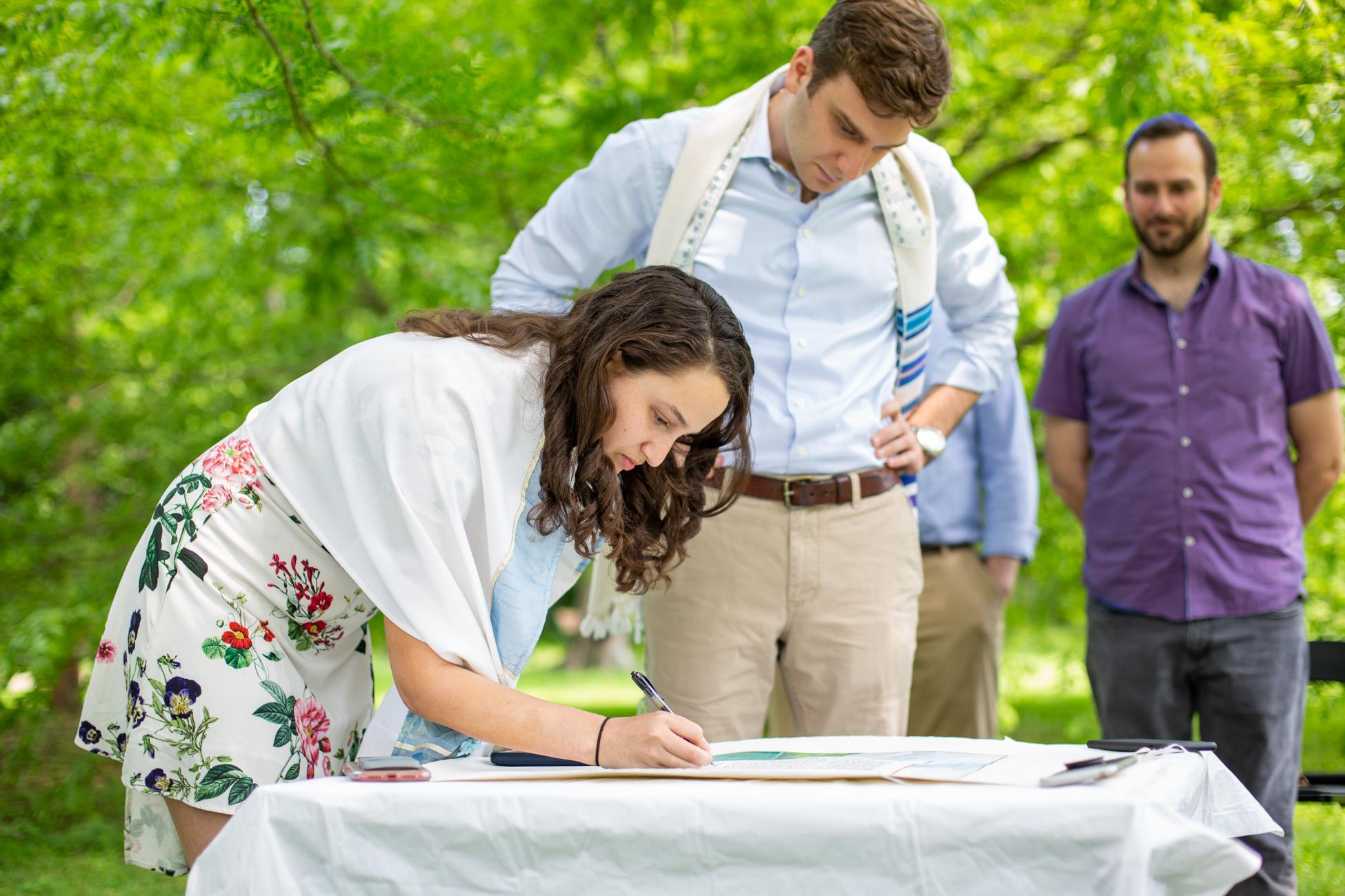 Elizabeth and Alex's Wedding Ceremony in Merion Botanical Gardens by Avi Loren Fox LLC-6.jpg