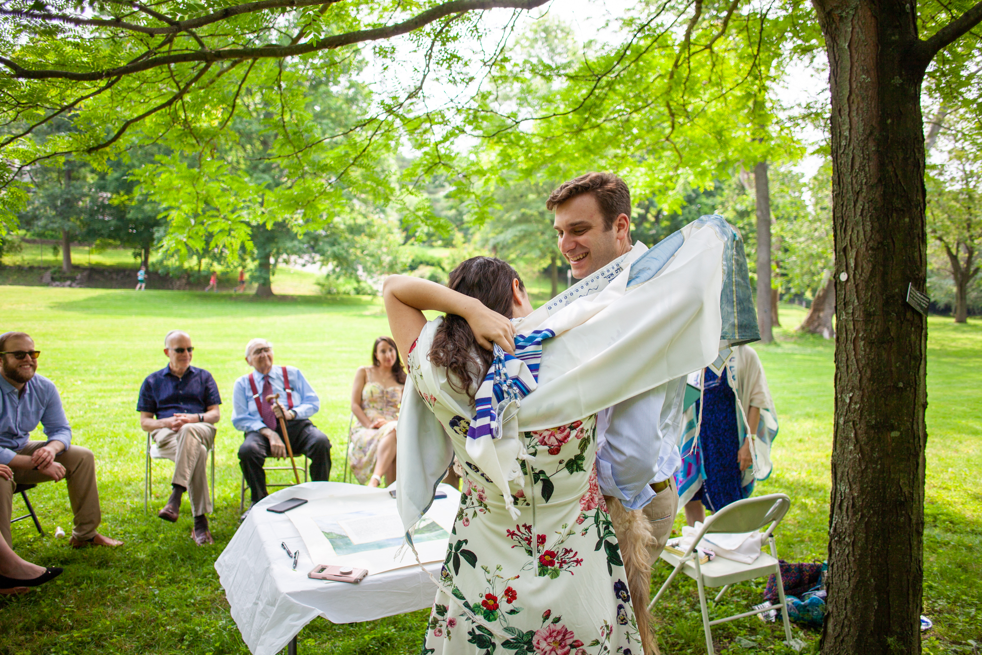 Elizabeth and Alex's Wedding Ceremony in Merion Botanical Gardens by Avi Loren Fox LLC-12.jpg