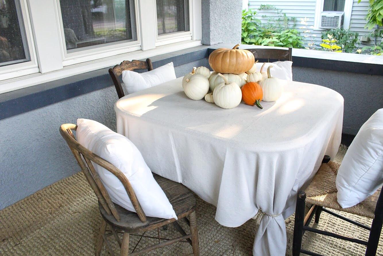 Pumpkin pile on the table