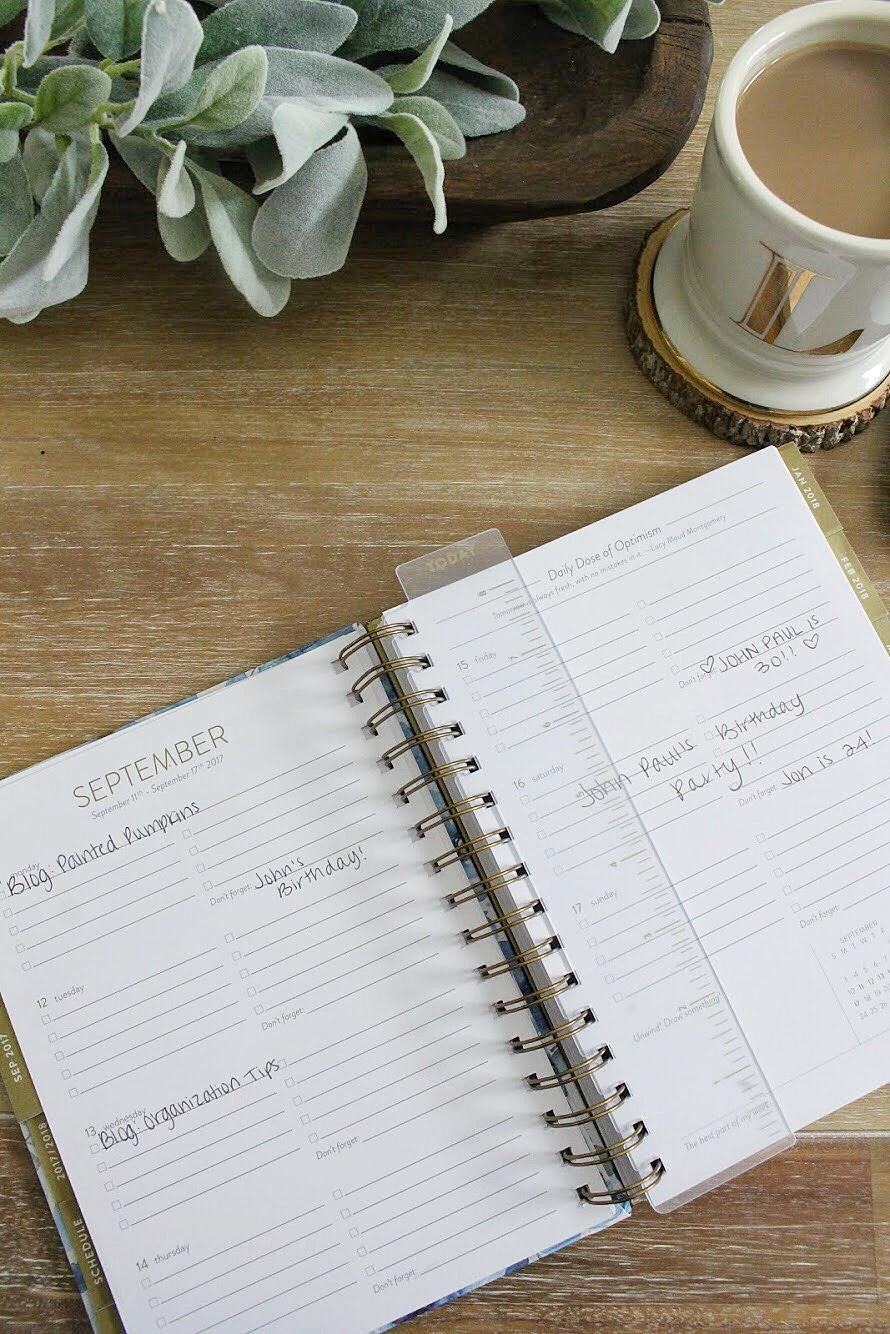 Blog posts in planner