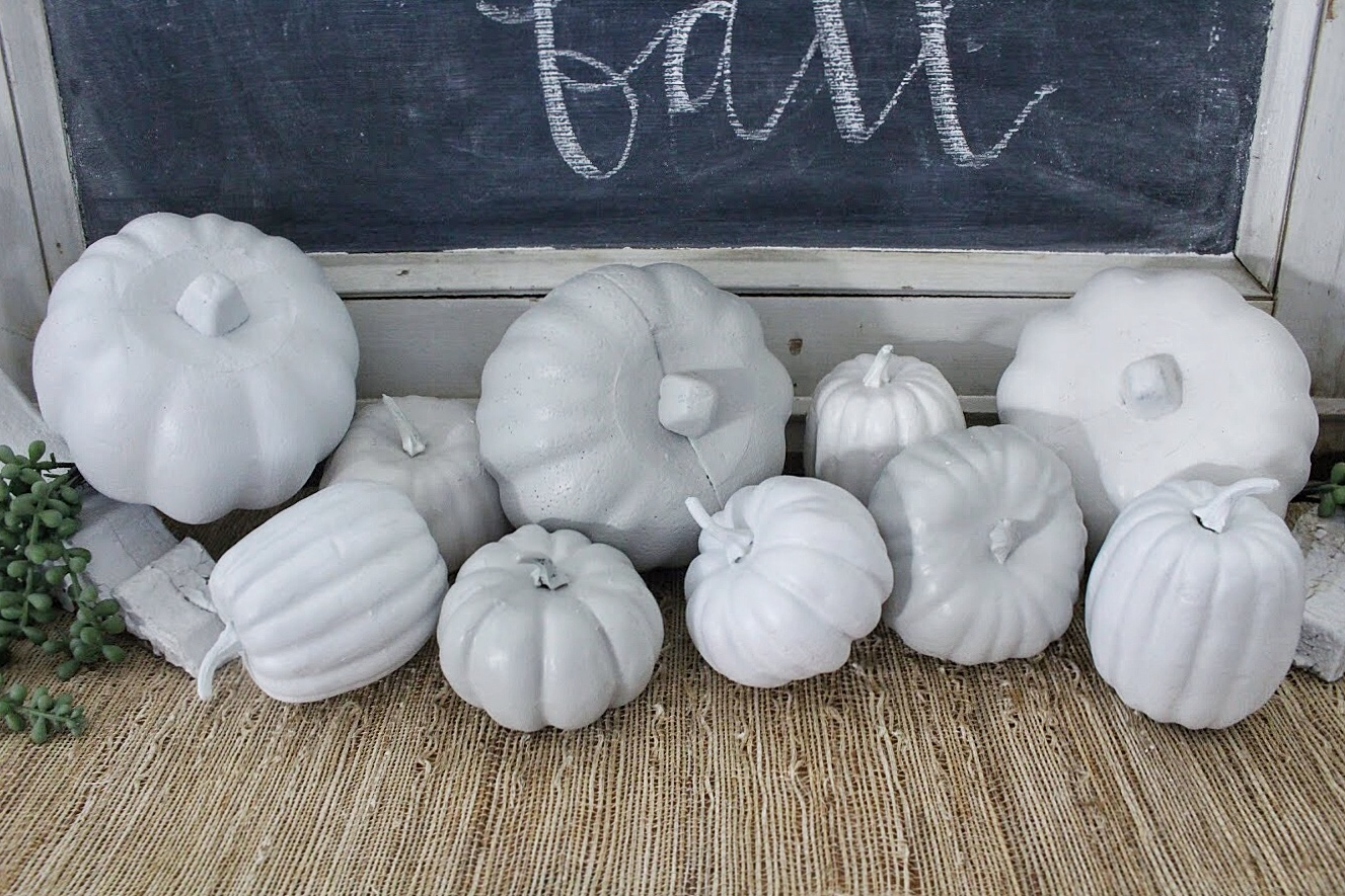 close up of diy pumpkins