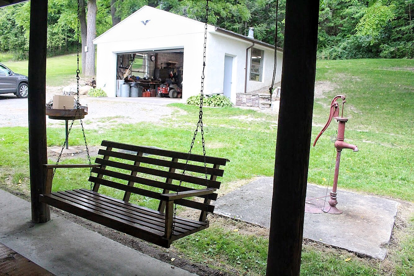 swing at the farmhouse