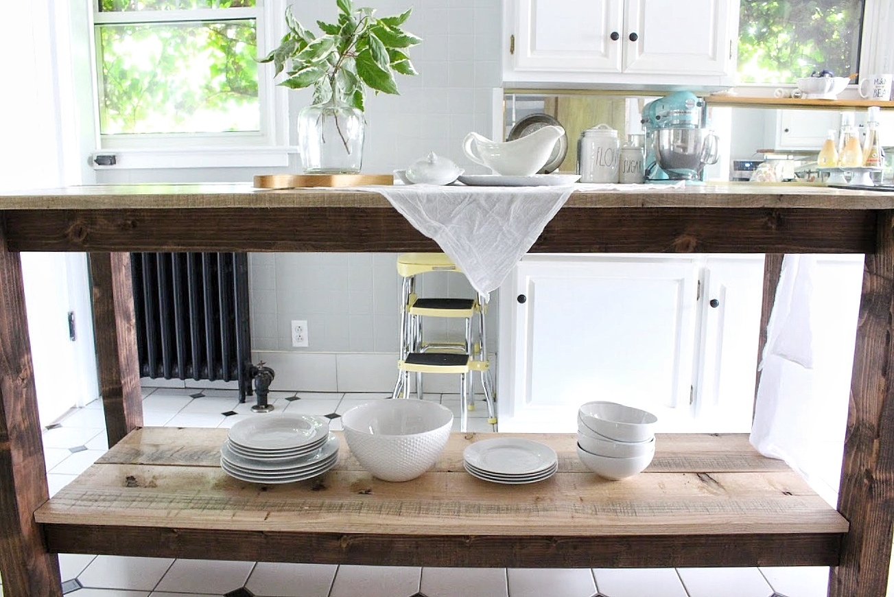 kitchen island shelf