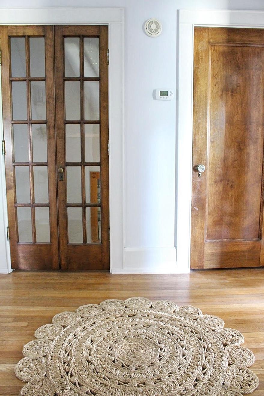 Hallway french doors