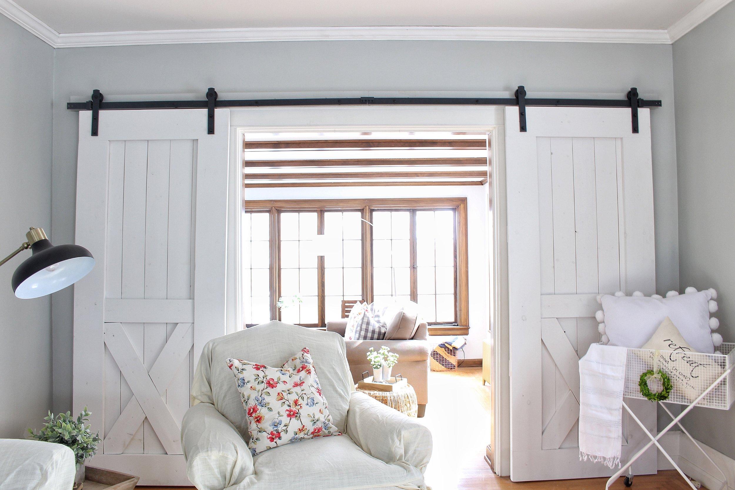 Sliding barn doors open