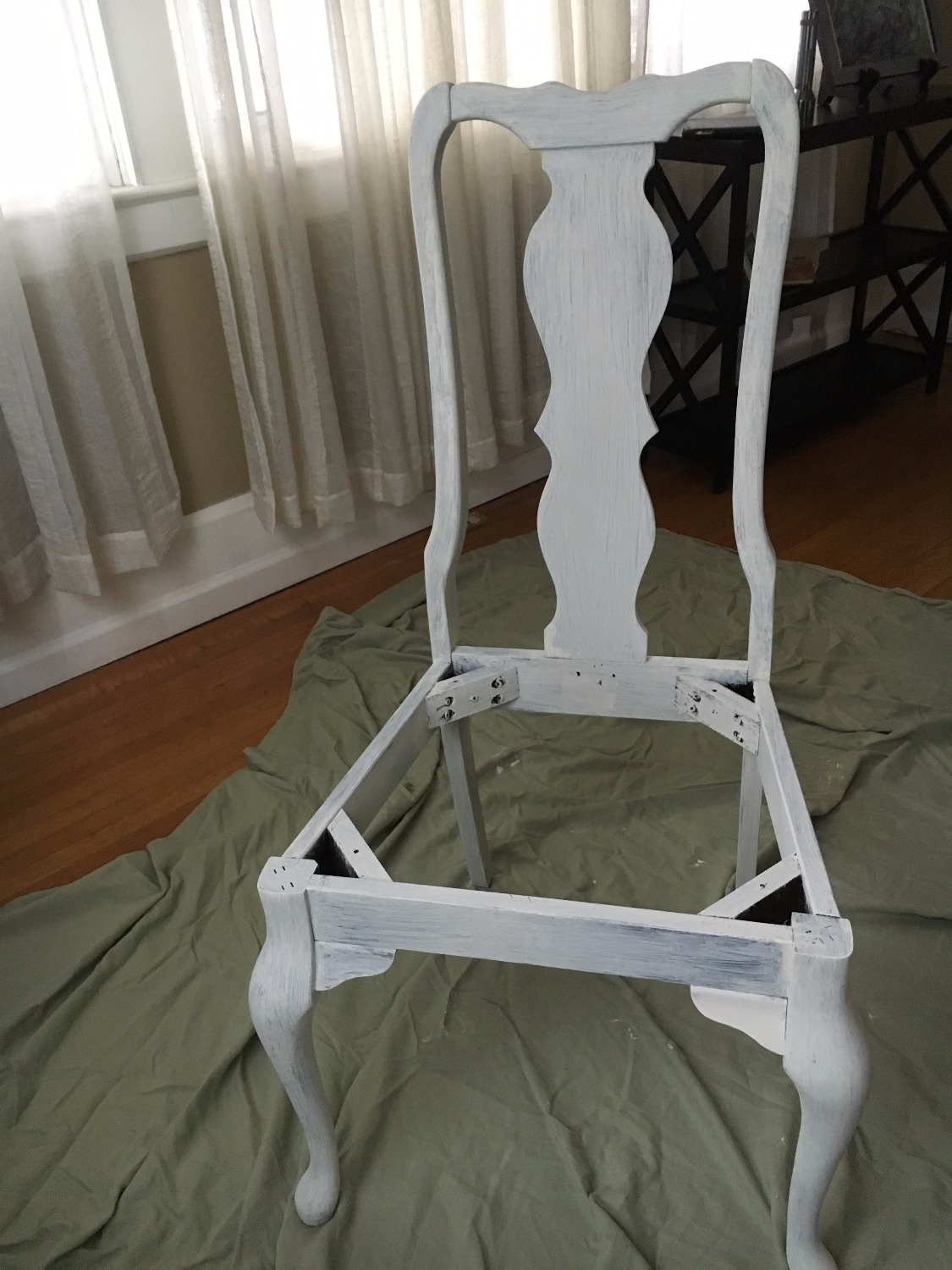 First coat of paint on Dining Room Chairs
