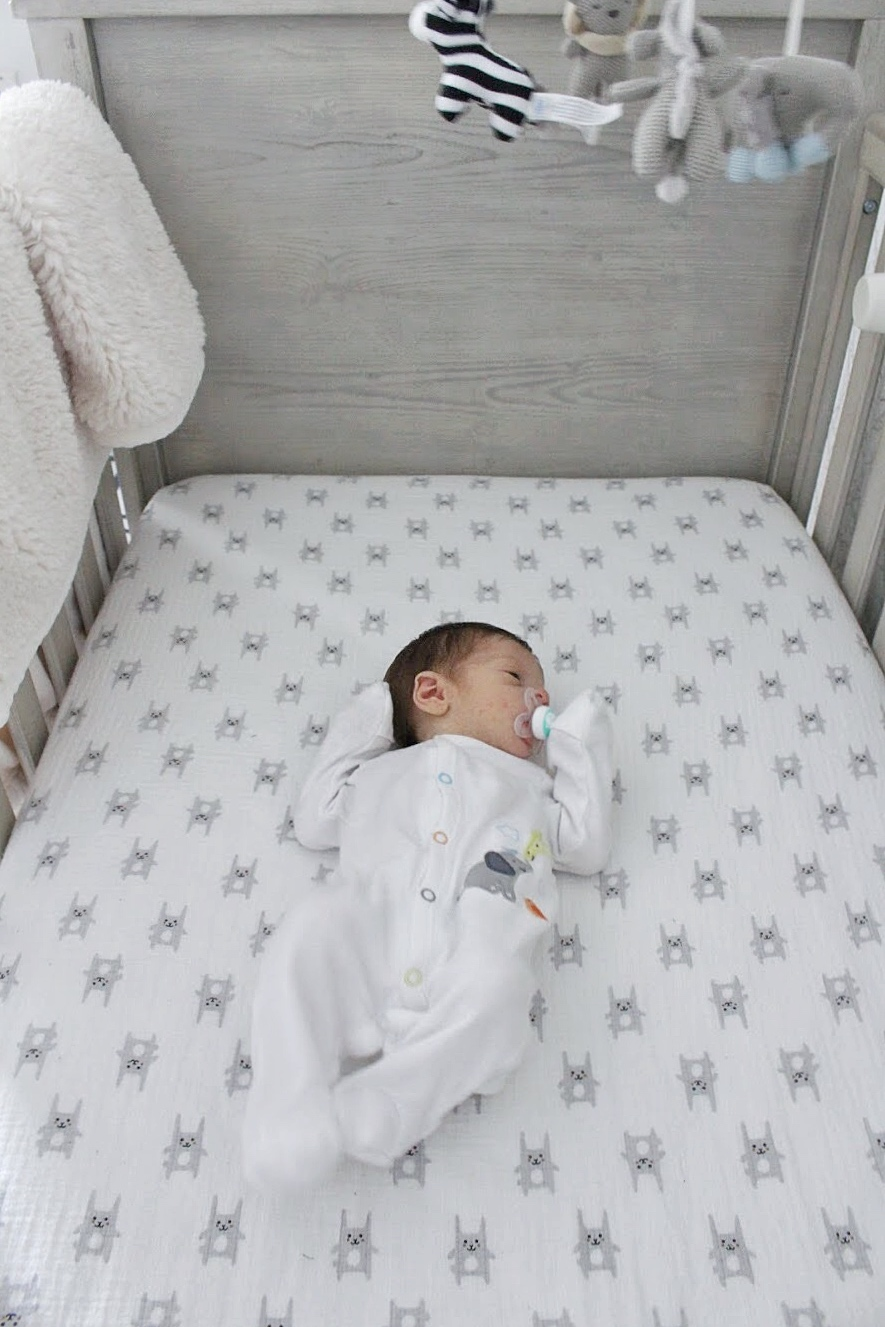 Dominic in the crib