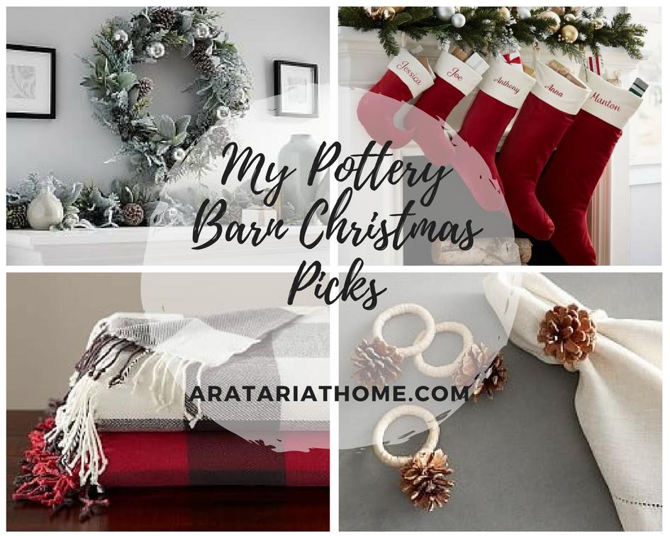 My Pottery Barn Christmas Picks