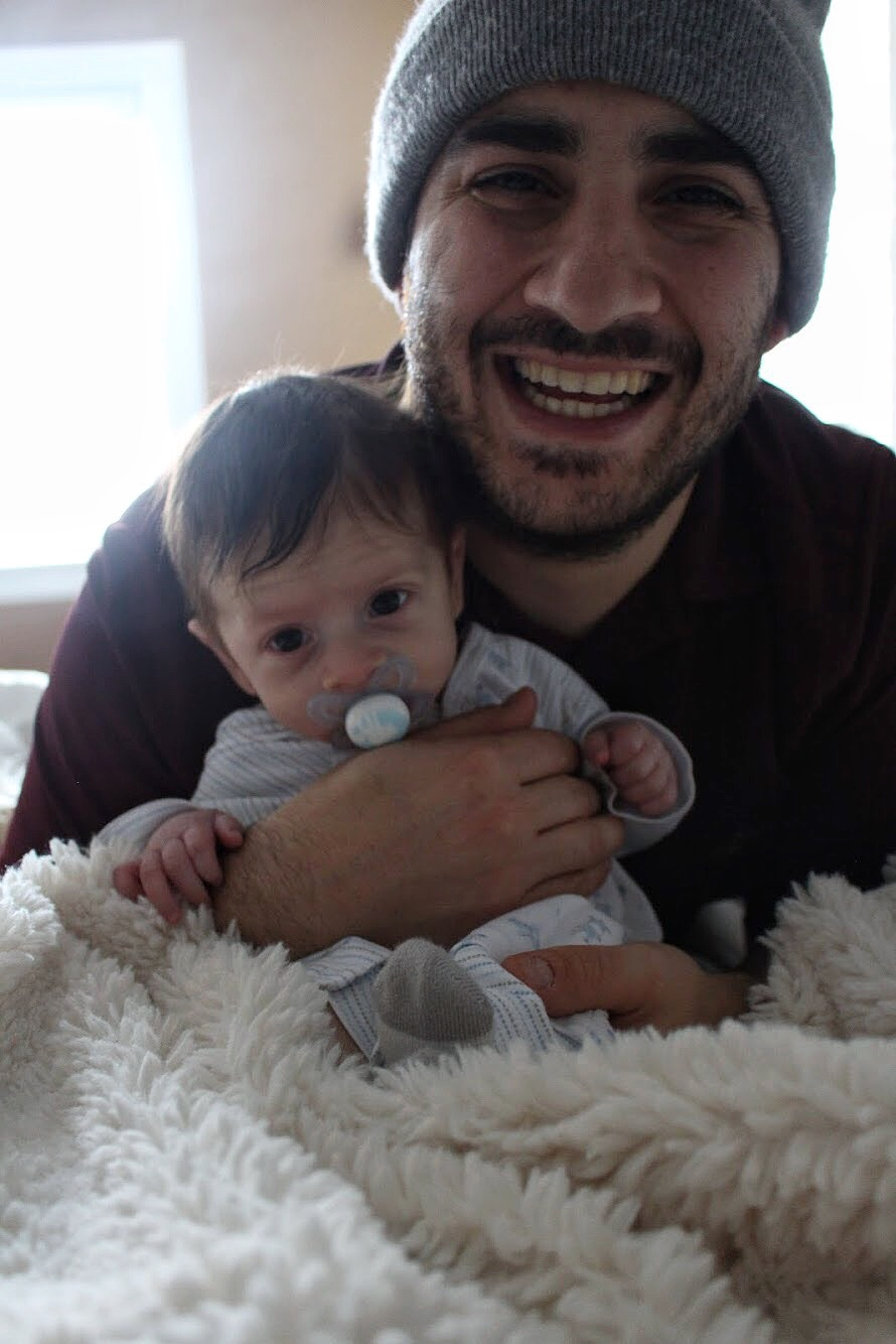 Dominic with Daddy
