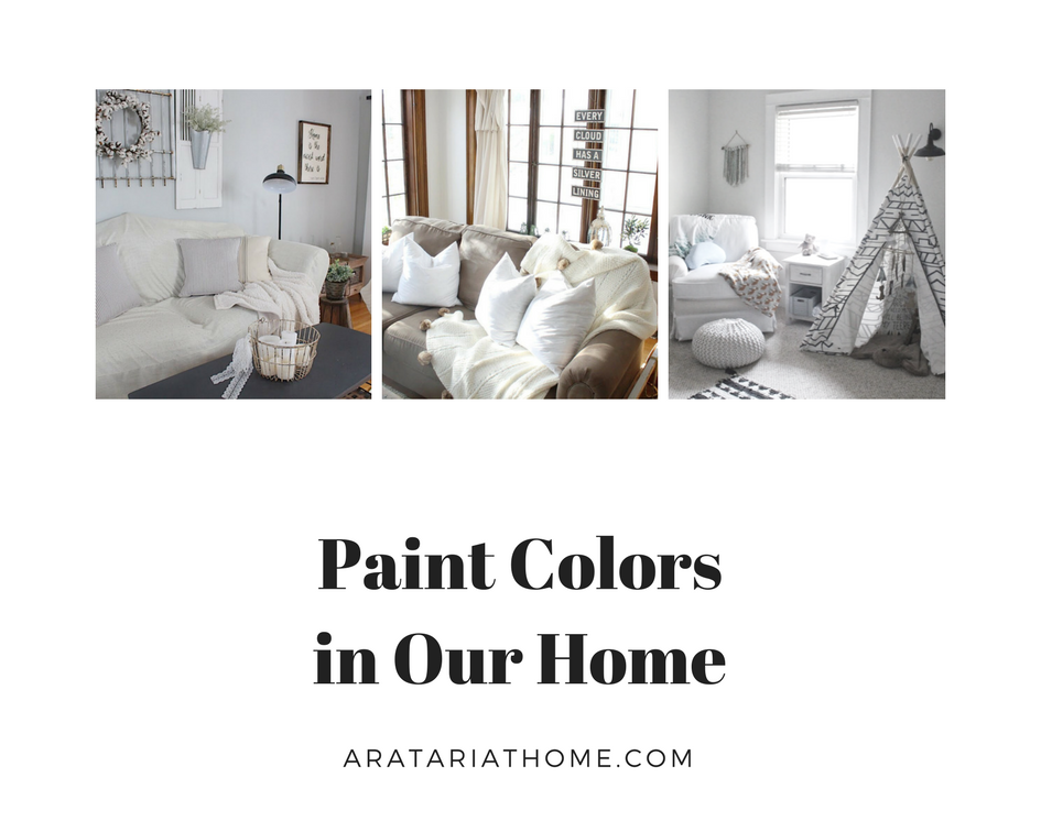 Paint Colors in Our Home Round Up