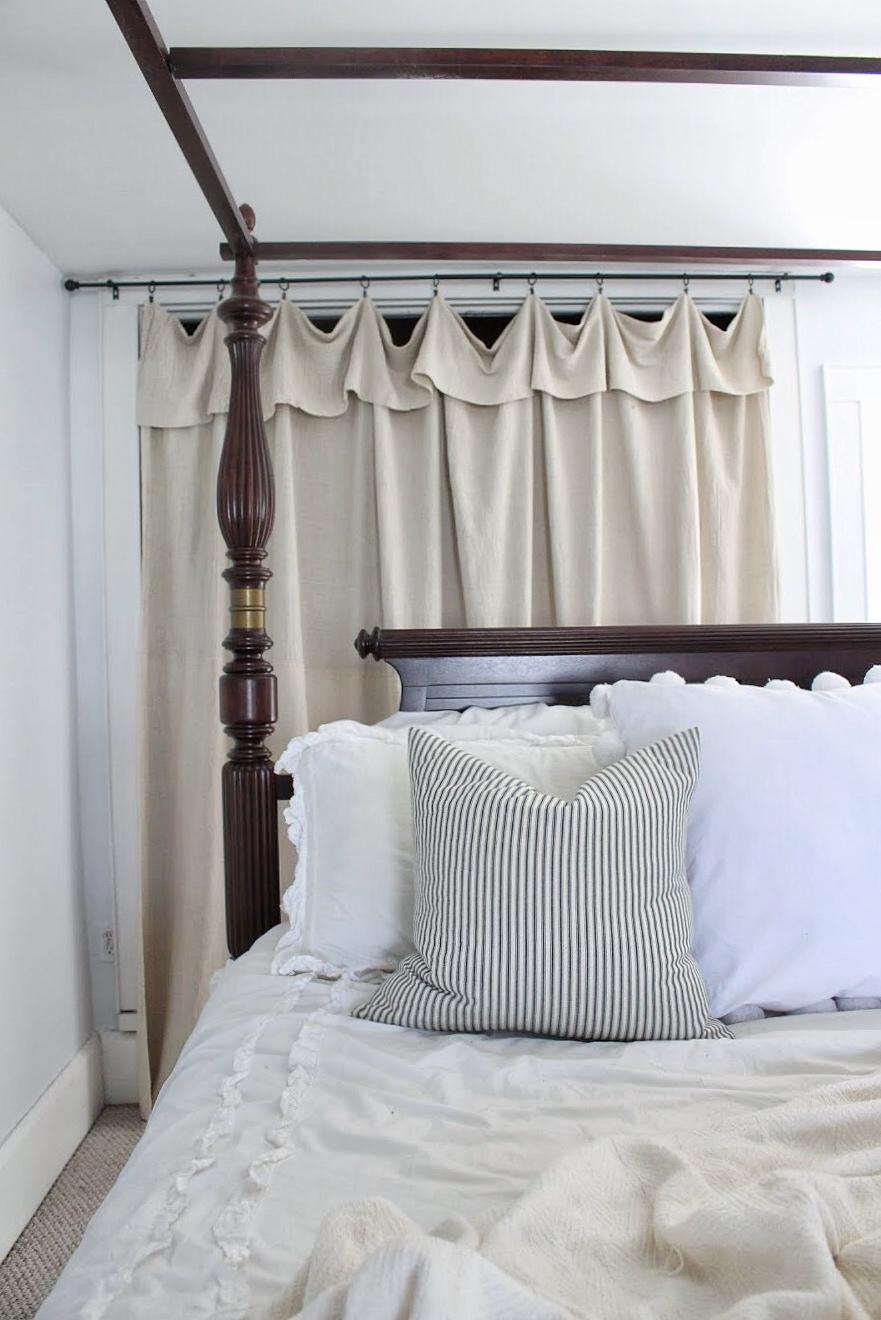 Drop cloth curtain
