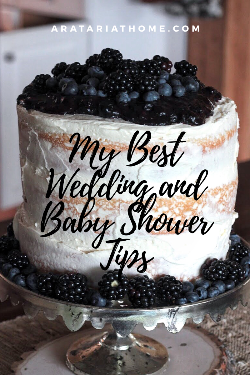 My Best Wedding and Baby Shower Tips