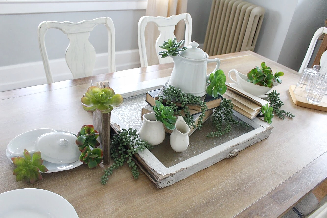 Casual and Vintage Spring Tablescape