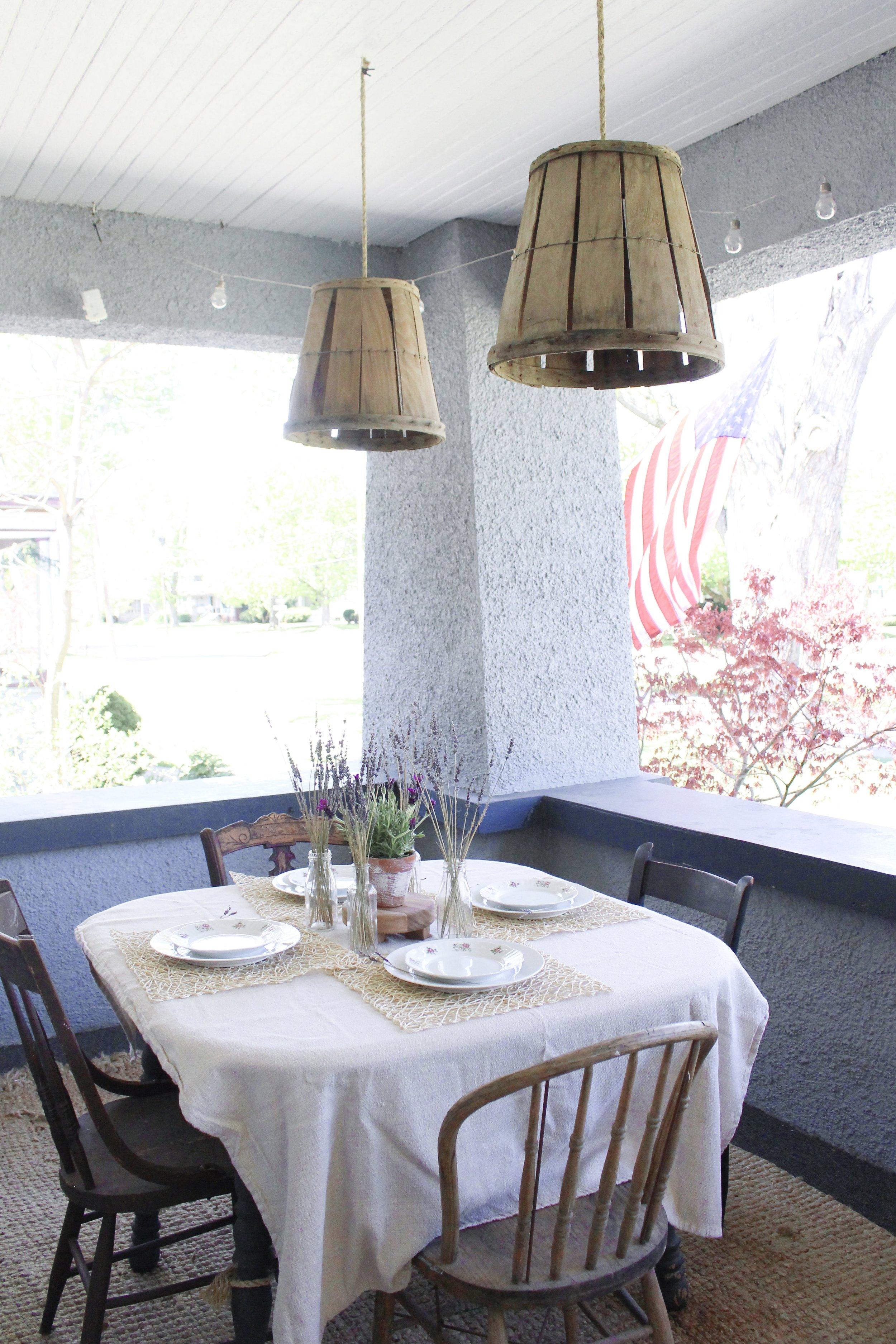 Porch tablescape