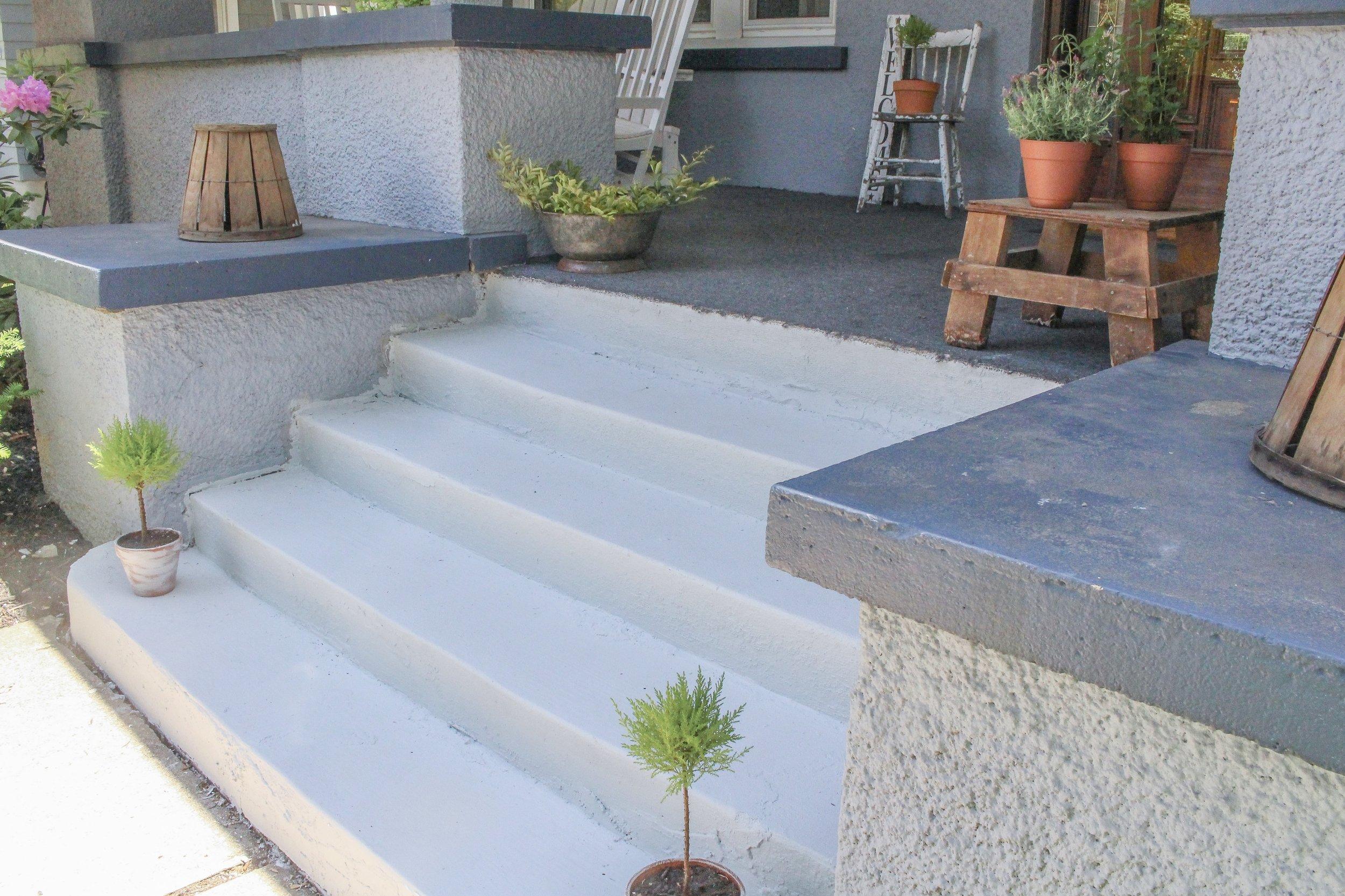 Side of steps