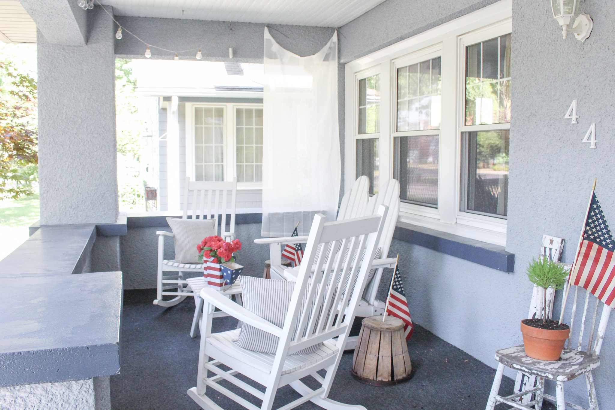Vintage 4th of July Front Porch