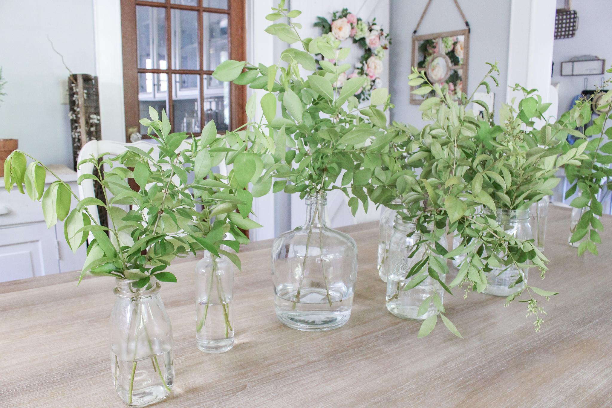 Dining room greenery